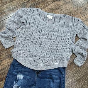 🔥 Silver Chunky Sweater sz M
